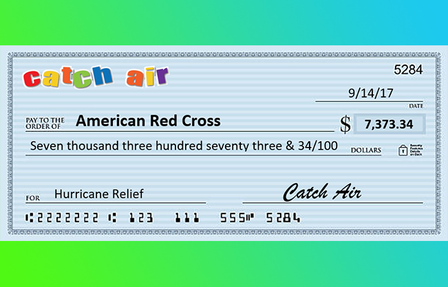 Catch Air Donates to Hurricane Relief Efforts