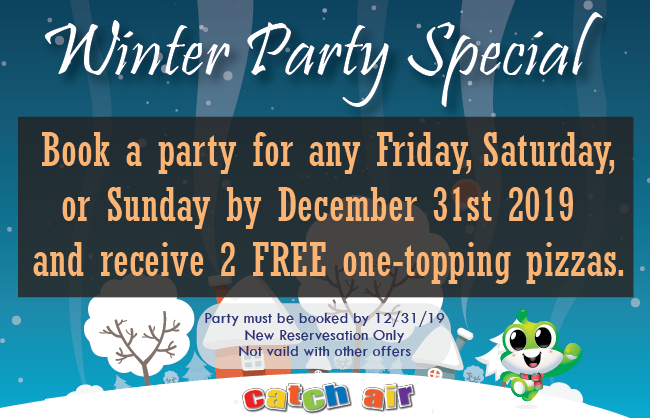 Winter Party Specials at Johns Creek and Marietta