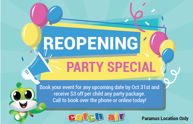 Reopening Party Special