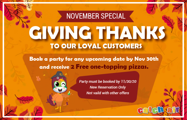 November Party Special at Johns Creek, Snellville, Cumming, and Marietta