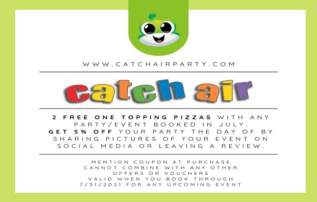 Catch Air Party Special at Johns Creek, Cumming, Snellville, Grand Rapids, and Marietta