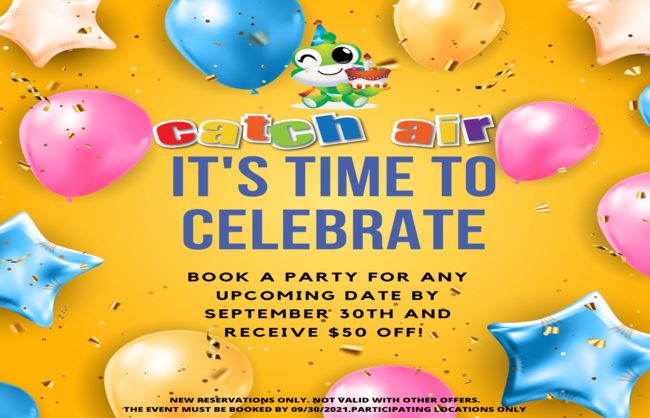 Catch Air Party Special at Johns Creek, Cumming, Snellville, Paramus, Grand Rapids, and Marietta
